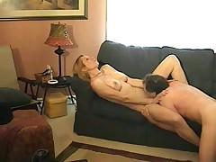 Old lady deepthroats her husband