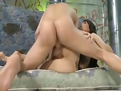 Hairy box beauty Bobbi Starr in lingerie has anal
