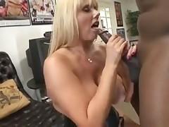 Big white girl wears a corset as she takes BBC