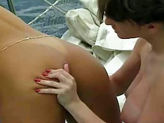 Busty lesbian pleasures on the sailing yacht