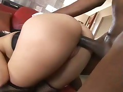 Gorgeous Brunette Slammed By Dark Dude