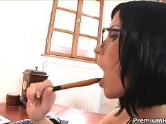 Renata Black - Fucking Hot Secretary In Stockings Renata Black Backdoor Banged