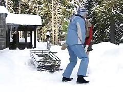 Lesbian Fun In The Snow