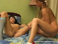 Anna And Irena - Real Teens Kissing