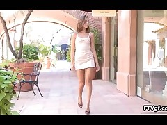 Sexy Teen Girl Showing Her Firm Ass And Masturbating Outdoor By FTVgf