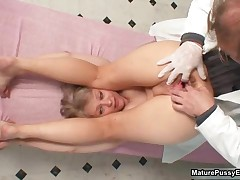 Pink Mature Pussy Gets Examed By A Horny Doctor With A Speculum By MaturePussyExams