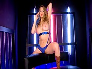 Hot Kagney telephone sex blue lingerie