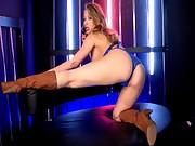 Hot Kagney telephone sex blue lingerie