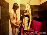 Real amateur european hooker suck guys cock in reality red light sex