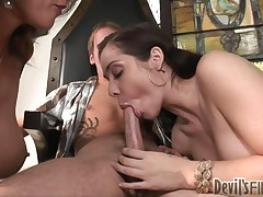 Beverly Hills And Persia Monir - Mother Teaching Daughter How To Suck Cock #4