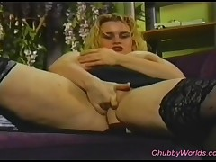 After She Fingers Her Horny Pussy This Blonde Chubby Is Fucked Deeply And Roughly!