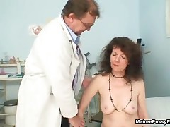 Horny Sexy Grandma Showing Her Natural Hairy Bush To A Doctor By MaturePussyExams