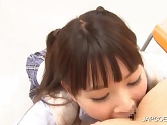 Two Japanese Hotties Licking A Horny Dudes Ass