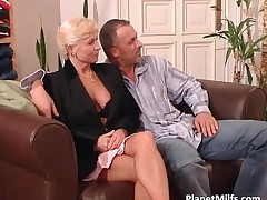 These Two Mature And Hot Blondes Fuck With Two Guys Making Great Two On Two Group Sex By PlanetMilfs