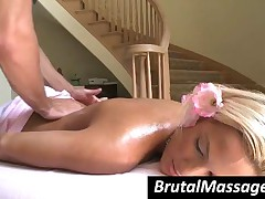 Kara Novak - Happy Blonde Babe Kara Gets Perfect Body Massaged