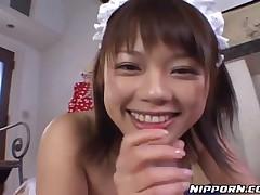 Japanese Maid Shows Her Titjob Skills