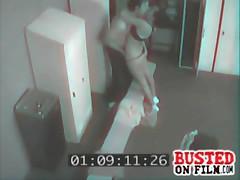 Spycam Films Couple Fucking In Gym Lockerroom