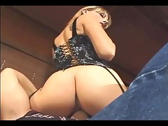 Facesitting Smothering And Fucking In Sexy Fishnet Stockings And A Corset