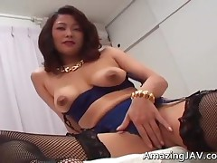Busty Japanese Girl In Lingerie Sucking Cock 2 By Amazingjav