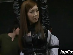 Tied Up Japanese Slave Showing Her Assets