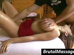 Mulani Rivera - Busty Babe Gets Fucked Hard By A Horny Masseur