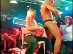 Crazy Sluts Dancing With Strippers At A Party