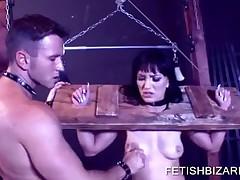Brunette Slave Tortured And Finger Fucked