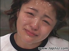 Lovely Japanese Nympho Gets Facial Cummed
