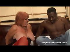 Sexy Redhead Big Tit Milf Fucking Big Black Cock