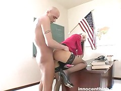 Christine Alexis - Lovely Working Student Riding Her Professors Cock