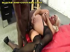Hot Cougars Taking A Black Anal Fucking