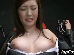 Sweet Japanese Slave Gets Tied Up And Pussy Fingered