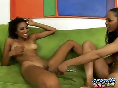 Krystal And Misty - Sexy Black Sluts Having Lesbian Fun In Front Of The Camera