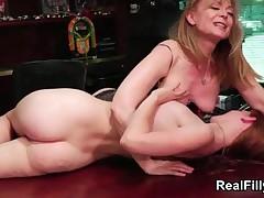 Sexy Redhead Milf Nina Hartley Fucking A Cute Redhead Teen By RealFilly