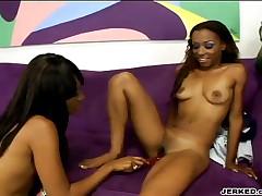 Kapri Styles And Tina Price - Young Ebony Slut Gets Dildo Fucked