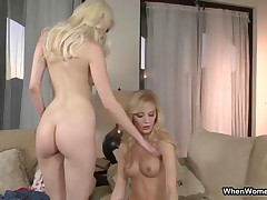 Blonde Hottie Gets Pleased By Her Horny Lesbian Friend By WhenWomenPlay