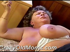 Busty Old Mom Knows It All About Fucking Strong Young Boner!