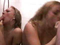 Crazy orgy breaks out in the bathroom