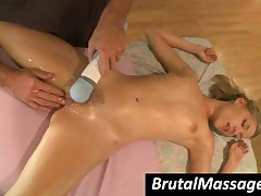 Nicole Ray - Small Breasted Nymphet Gets Mouth Fucked By Masseur