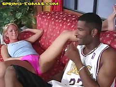 Blonde Babe Gets A New Big Black Meat