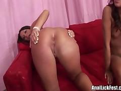 Audriana And Mya - Hot Chicks Pleasing A Horny Guy