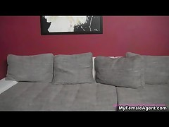 Nice Guy Getting Horny In An Interview On The Couch By MyFemaleAgent