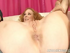 Audrey Hollander - Ebony Lesbian Ass Licking Action