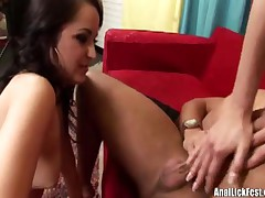 Carla Cox And McKenzie Banks - Brunette Babe Munching On Buttholes