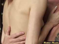Zoe Voss - Masseuse Is Giving Her Client A Full Service At The Nuru Massage