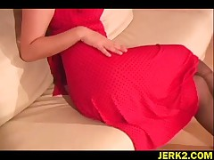 Jelena Jensen - Watch This Sweet Beaver Teaser Jelena Jensen In Red Dress And Black Patterned Pantyh