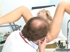 Horny Mature Patient Toying Her Pink Pussy For The Doctor By MaturePussyExams