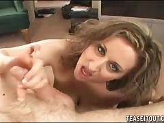 Kitty Lee - Sexy Mom Strokes A Dick