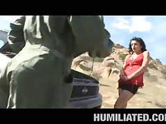 Persia Pele - MILF Humiliation - Hot Stranded MILF Fucked Outdoors!
