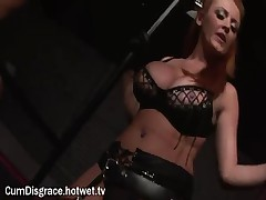 A Blonde Cum Slut Thoroughly Enjoys Herself At A Wild Bondage Sex Party